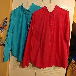 2 J. CREW blouses